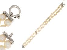 Perle con diamanti da Outlet