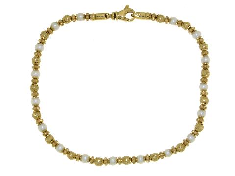 Bracciale Perline e palline in oro