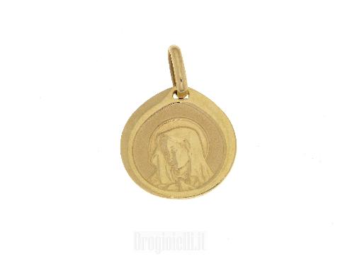 Piastra con madonna per comunioni in oro