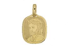 Piastra cristo crocifisso in oro giallo