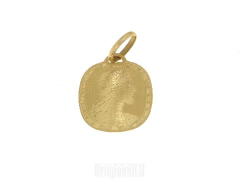 Piastrina cristo in oro giallo 18 carati