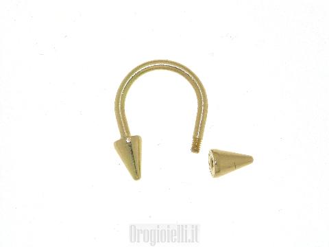 Piercing in oro giallo 18 carati