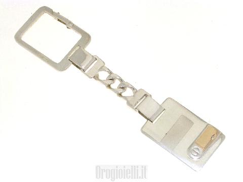 Portachiave in argento modello classico