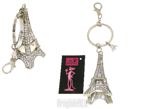 Portachiavi Torre Eiffel Pink Panther