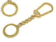 Portachiavi portasterlina in oro giallo