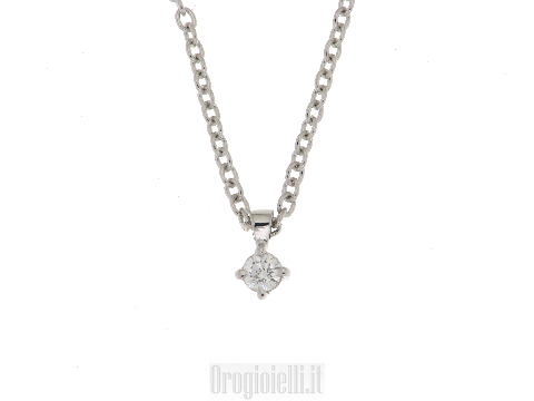 Punto luce con diamante in oro bianco