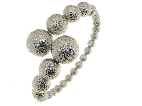 Arte dei gioielli Bracciale Rigido a contrariè in oro bianco 18 k