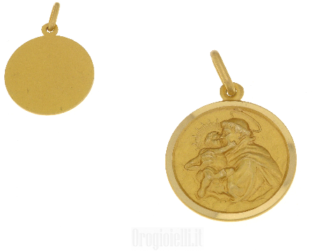 Medaglia sacra in oro Sant 'Antonio da Padova