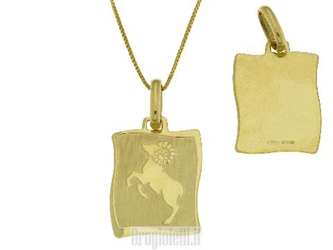 Medaglie Segni zodiacali in oro - Segno zodiacale del capricorno