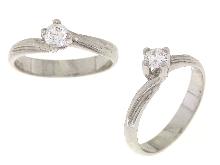 Solitario con diamante anello in oro