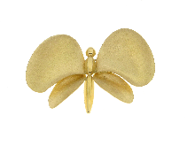Gold Jewells: Butterfly brooch in gold 18kt