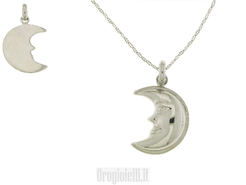 Splendida collana con mezza luna