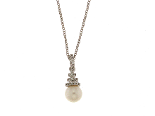 Gold Jewells: Italian 18k gold jewelry: Beautiful necklace for bride in white