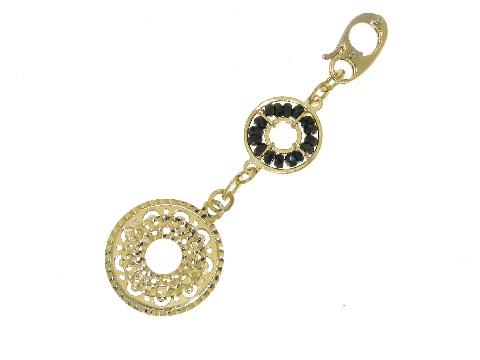 Gioielli in arte Italiana Splendido pendente con zirconi neri