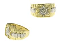 Timone in oro bianco su anello