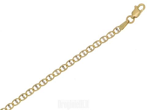 Gioiello da uomo in oro giallo e bianco Bracciale a maglia