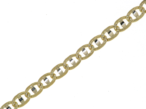 Traversino bicolore in oro 18ct
