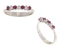 Veretta con rubini e diamanti in oro