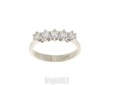 Verette con diamanti in oro bianco