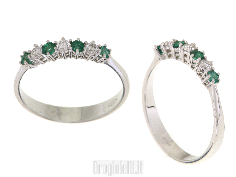 Verette con smeraldi e diamanti in oro
